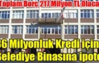 UŞAK BELEDİYE BİNASI 36 MİLYONLUK BORÇ İÇİN...