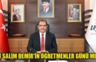 Vali Salim Demir'in 24 Kasım Öğretmenler Günü...