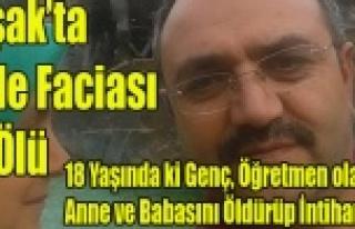UŞAK'TA CİNNET GEÇİREN GENÇ, ÖĞRETMEN...