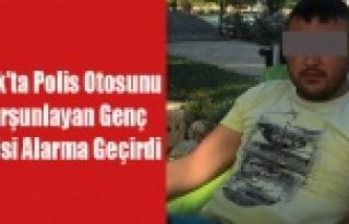 UŞAK'TA POLİS ARACINI KURŞUNLAYAN GENÇ POLİSİ...
