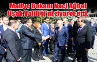 MALİYE BAKANI NACİ AĞBAL, UŞAK VALİLİĞİ'Nİ...