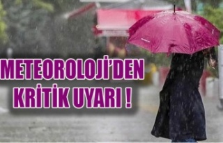 METEOROLOJİ'DEN KRİTİK UYARI !