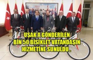 UŞAK'A GÖNDERİLEN BİN 50 BİSİKLET VATANDAŞIN...