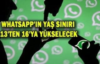WHATSAPP'IN YAŞ SINIRI 13'TEN 16'YA...