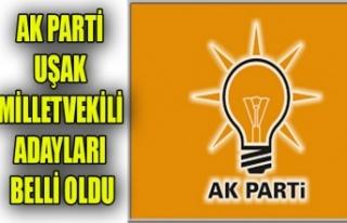 AK PARTİ UŞAK MİLLETVEKİLİ ADAY LİSTESİ BELLİ...
