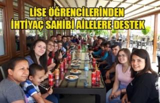 LİSE ÖĞRENCİLERİNDEN İHTİYAÇ SAHİBİ AİLELERE...