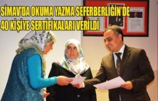 SİMAV'DA OKUMA YAZMA SEFERBERLİĞİN'DE 40...