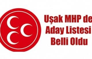 UŞAK MHP'DE ADAY LİSTESİ BELLİ OLDU. YARIN...