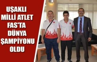 UŞAKLI MİLLİ ATLET, FAS'TA DÜNYA ŞAMPİYONU...
