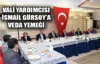 VALİ YARDIMCISI İSMAİL GÜRSOY'A VEDA YEMEĞİ