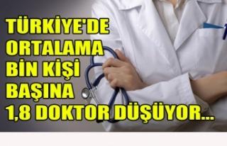 TÜRKİYE'DE ORTALAMA BİN KİŞİ BAŞINA 1,8...