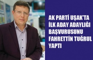 AK PARTİ UŞAK'TA İLK BELEDİYE BAŞKAN ADAYI...