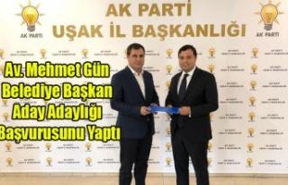 AV. MEHMET GÜN AK PARTİDEN BELEDİYE BAŞKAN ADAY...