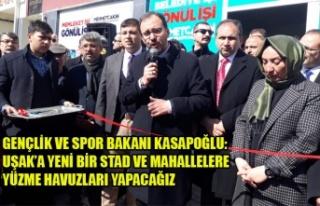BAKAN'DAN UŞAK'A YENİ BİR STAD VE MAHALLELERE...