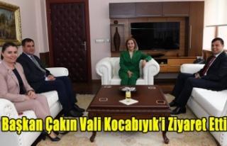 BAŞKAN MEHMET ÇAKIN VALİ FUNDA KOCABIYIK ZİYARET...