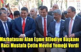 Mazbatasını Alan Eşme Belediye Başkanı Hacı...