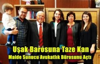 UŞAK BAROSUNA TAZE KAN, MAİDE SUNUCU AVUKATLIĞA...