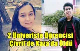 ÇİVRİL'DE KAZA 2 ÜNİVERSİTE ÖĞRENCİSİ...