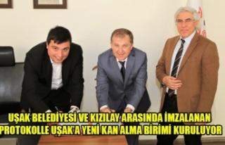 UŞAK BELEDİYESİ VE KIZILAY ARASINDA İMZALANAN...