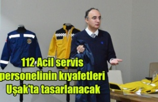 112 Acil servis personelinin kıyafetleri Uşak'ta...