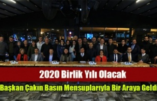 Başkan Çakın Basın Mensuplarıyla Bir Araya Geldi