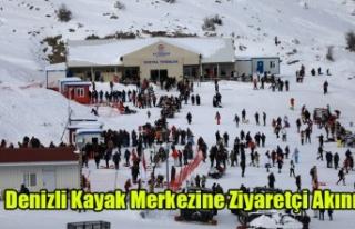 Denizli Kayak Merkezine Ziyaretçi Akını