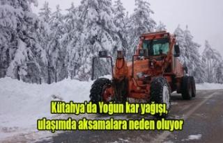 Kütahya'da Yoğun Kar Yağışı, ulaşımı...