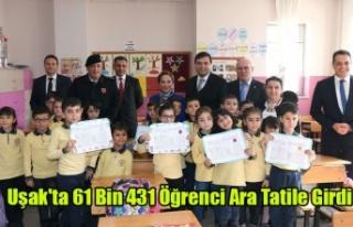 Uşak'ta 61 Bin 431 Öğrenci Ara Tatile Girdi