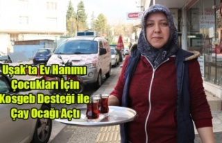 UŞAK'TA EV HANIMI ÇOCUKLARI İÇİN KOSGEB...