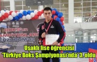 Uşaklı lise öğrencisi 'Türkiye Boks Şampiyonası'nda'...