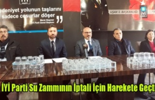 İYİ PARTİ SU ZAMMININ İPTALİ İÇİN HAREKETE...
