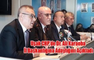 UŞAK CHP DE İL BAŞKANLIĞI İÇİN İLK ADAY DR....