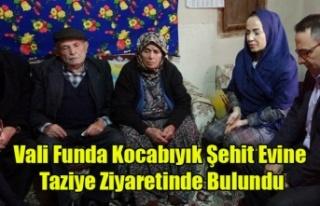 Uşak Valisi Kocabıyık'tan şehit ailesine taziye...