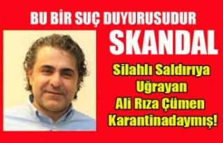 BİR EYLÜL DE SİLAHLI SALDIRIYA UĞRAYAN ALİ RIZA...
