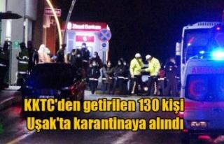 KKTC'den getirilen 130 kişi Uşak'ta karantinaya...