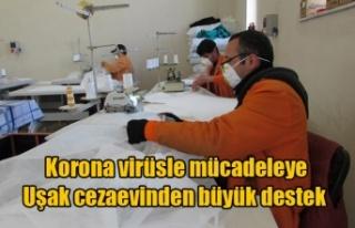 Korona virüsle mücadeleye cezaevinden büyük destek