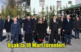 Uşak'ta 18 Mart Törenleri