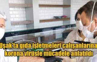 Uşak'ta gıda işletmeleri çalışanlarına...