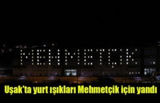 Uşak'ta KYK Yurt Işıkları Mehmetçik İçin...