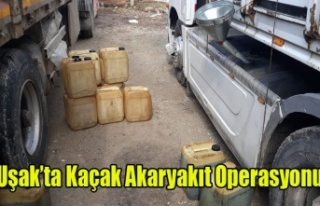 Uşak'ta 1.5 Ton Kaçak Akaryakıt Ele Geçirildi
