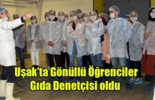 Uşak'taki gönüllü öğrenciler gıda denetçisi...