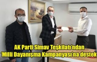 Ak Parti Simav Teşkilatı'ndan 'Milli Dayanışma...
