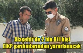 Alaşehir'de 2 bin 811 kişi EİKP yardımlarından...