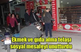 Alaşehir'de Ekmek ve gıda alma telaşı sosyal...