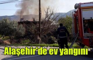 Alaşehir'de Ev Yangını