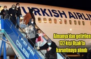 Almanya'dan getirilen 132 kişi Uşak'ta karantinaya...