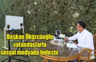 Başkan Öküzcüoğlu vatandaşlarla sosyal medyada...