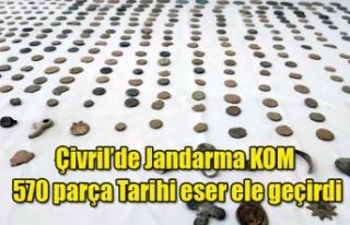 Çivril'de Jandarma KOM 570 parça tarihi eser...