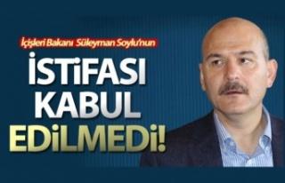 İçişleri Bakanı Soylu'nun istifası kabul...