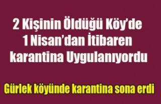 İKİ KİŞİNİN ÖLDÜĞÜ GÜRLEK'TE KARANTİNA...